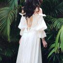 Dress Summer of 2019 Jungle Fairy S [high cost performance], m [return in 7 days], l [good fabric] longuette singleton  commute One word collar High waist Socket Ruffle Skirt 25-29 years old Type A Retro