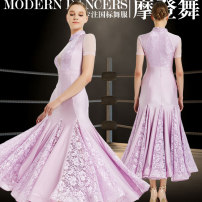 Modern dance suit (including performance clothes) The shadow of flowers Waltz, tango, Foxtrot, trot female S,M,L,XL,XXL other