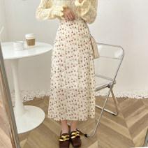 skirt Spring 2021 Average size White, black, pink longuette commute 51% (inclusive) - 70% (inclusive) Chiffon Korean version