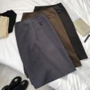skirt Winter 2020 S,M,L,XL Dark grey, black, brown Mid length dress Versatile Solid color 51% (inclusive) - 70% (inclusive) other