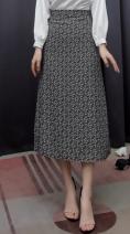 skirt Summer 2021 S, M Black flower N249129