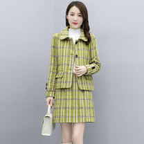 Fashion suit Autumn 2020 M L XL XXL XXXL Grey Green Brown 25-35 years old Meng Jia Xian Yi MJQY20X-0828-10 polyester fiber Polyester 100% Exclusive payment of tmall