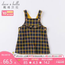 Dress spring and autumn Europe and America Cotton blended fabric A-line skirt Class A Autumn 2020 female DAVE&BELLA Cotton 90% polyester 9% polyurethane elastic fiber (spandex) 1% 12 months, 6 months, 9 months, 18 months, 2 years, 3 years, 4 years, 5 years, 6 years Suspender skirt / vest skirt
