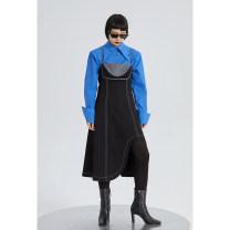 Dress Winter 2020 black S, M Mid length dress singleton  Sleeveless High waist Irregular skirt camisole 18-24 years old Type A
