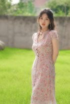 Dress Summer of 2019 Lilac flowers S,M,L Mid length dress singleton  Short sleeve commute V-neck High waist Decor Single breasted 18-24 years old The fish didn't go Retro Chiffon