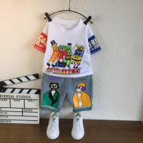 suit Other / other White, black male summer Korean version Short sleeve + pants 2 pieces routine There are models in the real shooting Socket nothing Cartoon characters cotton children Expression of love Class B Cotton 90% polyester 10% 7, 8, 14, 3, 6, 2, 13, 11, 5, 4, 10, 9, 12 Chinese Mainland