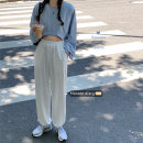 Casual suit Autumn 2020 63618 ᦇ blue sweater, 63123 ᦇ white trousers S. M, l, average size 18-25 years old 30% and below