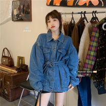 shirt Picture color Average size Autumn 2020 other 30% and below Long sleeves commute Medium length Single row multi button Solid color 18-24 years old Straight cylinder Korean version