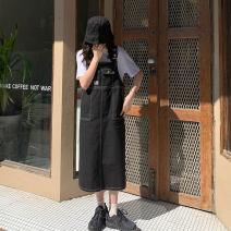 Dress Spring 2020 Army green, apricot, black Average size Mid length dress singleton  Long sleeves commute 18-24 years old Korean version
