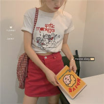 Fashion suit Spring 2021 Average size T-shirt, skirt s, Skirt M, skirt L 18-25 years old 30% and below