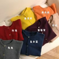 sweater Winter of 2019 Average size Gray, red, oat, banana yellow, Retro Blue, grape purple, pumpkin orange Long sleeves Cardigan singleton  have cash less than that is registered in the accounts other 95% and above Crew neck thickening commute Solid color 18-24 years old Other / other