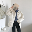 short coat Spring of 2019 Average size White, black, khaki Long sleeves routine routine Three piece set Straight cylinder commute routine Polo collar Single breasted Solid color 18-24 years old