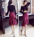 skirt Spring 2021 S,M,L,XL,2XL,3XL,4XL,5XL Red, black Mid length dress grace High waist skirt stripe Type H 25-29 years old 51% (inclusive) - 70% (inclusive) brocade cotton 401g / m ^ 2 (inclusive) - 500g / m ^ 2 (inclusive)
