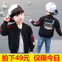 Plain coat Other / other male 90cm 100cm 110cm 120cm 130cm 140cm black spring and autumn Single breasted There are models in the real shooting routine nothing other Cotton blended fabric Crew neck Embroidered coat Cotton 65% polyurethane elastic fiber (spandex) 35%