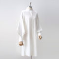 shirt White, bright white S,M,L,XL Spring 2020 other 91% (inclusive) - 95% (inclusive) Long sleeves commute Medium length stand collar Single row multi button bishop sleeve Solid color 18-24 years old Straight cylinder Korean version