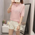Wool knitwear Summer 2021 L [recommended 90-110 kg], XL [recommended 115-135 kg], 2XL [recommended 140-165 kg], 3XL [recommended 170-200 kg] Yellow, pink Short sleeve singleton  Socket other 71% (inclusive) - 80% (inclusive) Regular Thin money commute easy Low crew neck routine Solid color Socket