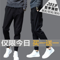 Casual pants Others Youth fashion M,L,XL,2XL,3XL,4XL,5XL routine trousers Other leisure Self cultivation Micro bomb summer youth tide 2020 middle-waisted Sports pants Pocket decoration No iron treatment Roman cloth polyester fiber