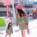 Sweater / sweater Other / other Leopard Print female 120 cm, 120 cm, 120 cm, 120 cm, 120 cm, 120 cm, 120 cm, 120 cm, 120 cm, 120 cm, 120 cm spring and autumn nothing Korean version Socket routine There are models in the real shooting cotton Leopard Print Cotton 90% polyester 10% Class B