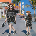 T-shirt black Other / other 120 cm, 120 cm, 120 cm, 120 cm, 120 cm, 120 cm, 120 cm, 120 cm, 120 cm, 120 cm, 120 cm female summer Short sleeve Crew neck Korean version There are models in the real shooting nothing cotton Daisy Cotton 85% others 15% Class B Gauze