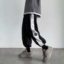 Casual pants Others Youth fashion Black, white, green S. M, l, XL, 2XL, XS plus small routine Ninth pants Other leisure easy summer teenagers tide 2021 Medium low back