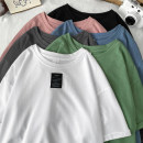 T-shirt Youth fashion Black, white, green, blue, gray, pink routine S. M, l, XL, 2XL, 3XL, XS plus small Others Short sleeve Crew neck easy Other leisure summer Cotton 100% teenagers routine tide other cotton No iron treatment