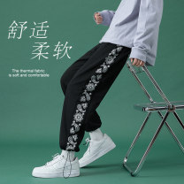 Casual pants Others Youth fashion White, black, light grey S. M, l, XL, 2XL, XS plus small routine trousers Other leisure easy Four seasons teenagers Youthful vigor 2021 Little feet Sports pants