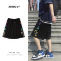 Casual pants Others Youth fashion Black, light grey S. M, l, XL, 2XL, XS plus small Shorts (up to knee) Other leisure easy summer teenagers tide 2021 Sports pants No iron treatment cotton More than 95%