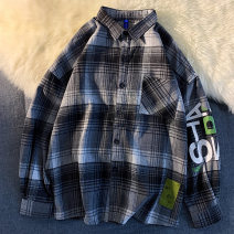 shirt Youth fashion Others S. M, l, XL, 2XL, XS plus small routine Pointed collar (regular) Long sleeves standard Other leisure spring teenagers Cotton 85% regenerated cellulose 15% like a breath of fresh air 2021 lattice
