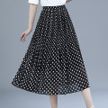skirt Summer 2021 M L XL 2XL 3XL 4XL 5XL Black and white dot black-6692 black-6699 entertainment development 1 Mid length dress Versatile High waist Pleated skirt Dot Type A 40-49 years old FNS6693 More than 95% Fangnisi polyester fiber Polyester 100% Pure e-commerce (online only)