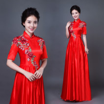 National costume / stage costume Autumn 2020 Red middle sleeve S,M,L,XL,XXL,XXXL Peiyi 25-35 years old polyester fiber 71% (inclusive) - 80% (inclusive)