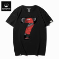 T-shirt Youth fashion Dark grey shoulder white shoulder, dark grey jujube, grey color, blue dark green, black, white and red routine 4XL 5XL 6XL S M L XL 2XL 3XL KERWATS Short sleeve Crew neck easy daily summer KER-H083 Cotton 95% polyurethane elastic fiber (spandex) 5% Large size routine tide cotton