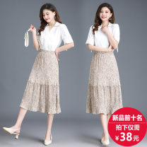 skirt Summer 2021 Skirt length about 76 (suitable for 85-145 Jin), collection recommended priority delivery Black, apricot, green, khaki Mid length dress Sweet Natural waist Cake skirt Decor Type A 18-24 years old 51% (inclusive) - 70% (inclusive) other