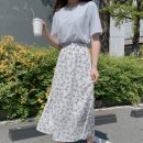 Fashion suit Summer 2021 S,M,L,XL Sky blue T-shirt, white skirt 18-25 years old 71% (inclusive) - 80% (inclusive) polyester fiber