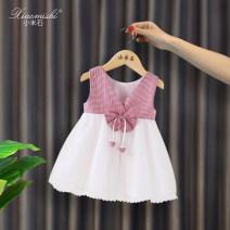 Dress Red stripe blue stripe female Millet stone Cotton 100% summer princess Skirt / vest Solid color cotton A-line skirt Summer of 2019 12 months, 9 months, 18 months, 2 years, 3 years, 4 years, 5 years, 6 years, 7 years, 8 years Chinese Mainland Guangdong Province