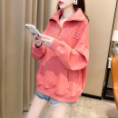 Sweater / sweater Autumn 2020 White, black, brick red Long sleeves routine Socket singleton  Thin money Half open collar easy commute routine letter 18-24 years old 81% (inclusive) - 90% (inclusive) Korean version cotton cotton Cotton liner zipper