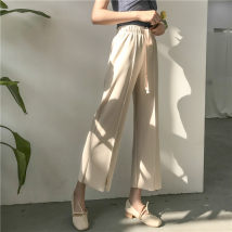 Casual pants Khaki black off white Average size Summer of 2018 trousers commute 18-24 years old 51% (inclusive) - 70% (inclusive) Other / other