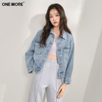 short coat Summer 2021 155/80A/XS 160/84A/S 165/88A/M Denim pre-sale 1 (issued on March 18) denim pre-sale 2 (issued on March 30) denim pre-sale 3 Long sleeves routine routine singleton  Self cultivation Versatile routine Polo collar Single breasted Solid color 25-29 years old one more 96% and above