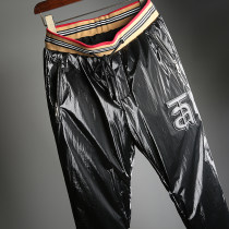 Down pants Beiming Eagle Black, silver 30,31,32,33,34,35,36,38,40 Youth fashion trousers Wear out White Velvet motion youth tide Slim fit