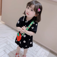 Dress Black, pink female Other / other 80cm,90cm,100cm,110cm,120cm,130cm Cotton 80% other 20% summer princess Short sleeve Broken flowers cotton A-line skirt Jinyinwa Class B 12 months, 18 months, 2 years old, 3 years old, 4 years old, 5 years old Chinese Mainland Zhejiang Province Huzhou City