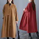Women's large Spring 2021 Windbreaker singleton  commute easy moderate Cardigan Long sleeves literature stand collar Medium length routine 30-34 years old pocket