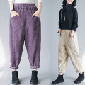 Women's large Autumn 2020 Off white, black, dark purple Big M [recommended 100-125 kg], big l [recommended 125-150 kg], big XL [recommended 150-175 kg], big 2XL [recommended 175-200 kg] trousers singleton  commute easy moderate literature 25-29 years old pocket trousers