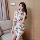 Dress Summer 2021 Picture color S,M,L,XL Miniskirt singleton  Sleeveless commute High waist Decor zipper 25-29 years old Type A Korean version Stitching, lace