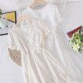 Dress Summer 2021 Apricot, white M, L Mid length dress singleton  Short sleeve commute V-neck Socket Type A Other / other Korean version other