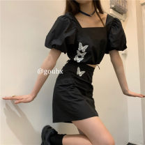 Fashion suit Summer 2020 S, M black 18-25 years old 1629#
