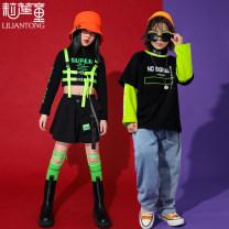 Children's performance clothes neutral 110cm 120cm 130cm 140cm 150cm 160cm 170cm Li Liantong Class B other Cotton 80% polyethylene terephthalate (polyester) 20% Spring 2021 Hip hop