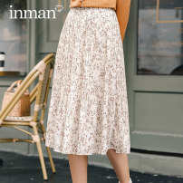 skirt Spring 2021 S M L Blue apricot flower color Middle-skirt Versatile High waist A-line skirt Broken flowers Type A 25-29 years old F180_ TM3556a More than 95% other Inman / Inman polyester fiber printing Polyester 96.6% polyurethane elastic fiber (spandex) 3.4%