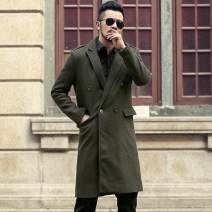 woolen coat Black army green S M L XL XXL XXXL Mixlimited / men's Club Youth fashion F301 Cotton 100% Winter of 2018 Medium length Other leisure Self cultivation double-breasted