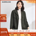 Windbreaker Spring 2020 S M L XL 2XL green Long sleeves routine Medium length commute tailored collar routine Solid color Straight cylinder Simplicity NAERSILING L1AHG170907 35-39 years old 91% (inclusive) - 95% (inclusive) polyester fiber Same model in shopping mall (sold online and offline)