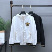 Jacket Other / other Fashion City White, black M,L,XL,2XL,3XL,4XL,5XL routine Self cultivation Other leisure autumn Long sleeves Wear out Hood Large size routine Zipper placket 2020 Rib hem Loose cuff Rib bottom pendulum