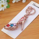 Key buckle VIENNA / winiva Leopard red and white Metal Couple series Cartoon alloy